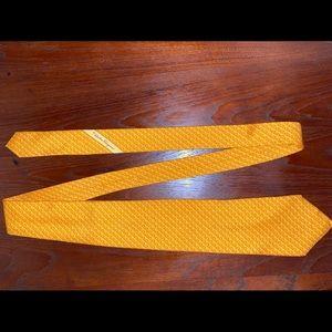 Salvatore Ferragamo Silk Orange Slice Tie